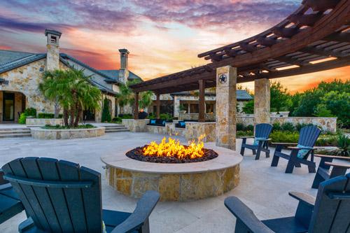 wonderful outdoor fireplace